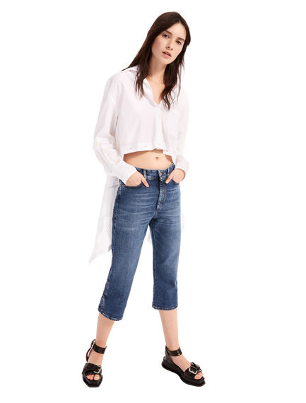 Capri-Cut Stretch Jeans
