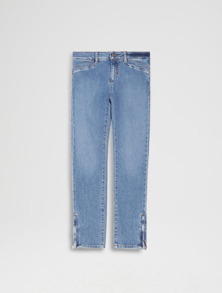 Zipped Super Skinny Indigo Jeans