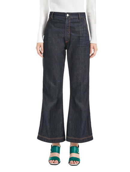 Cropped Full Flare Jeans