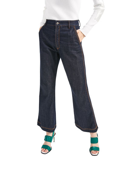 Cropped Full Flare Jeans Sportmax