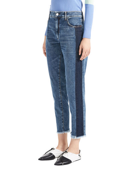 Two-Tone Cigarette Jeans