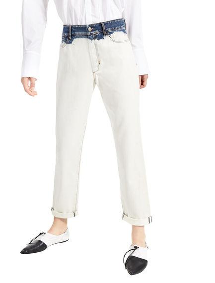 Jeans boyfriend sbiancati