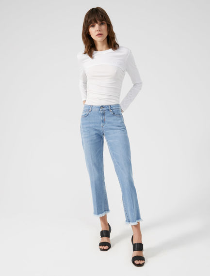 Crease-front Cropped Jeans Sportmax