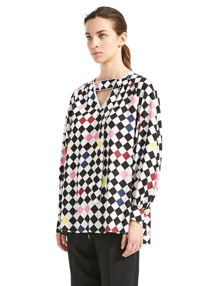 Chequerboard Twill Blouse