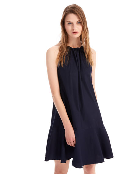 Fluted Cotton Canvas Dress Sportmax