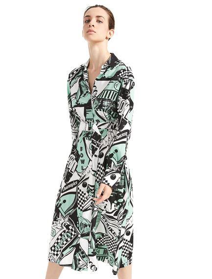Bowling Print Shirtdress Sportmax