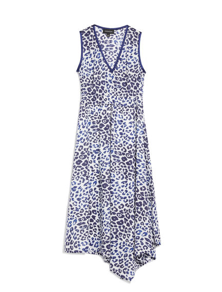 Animal Print Asymmetric Dress