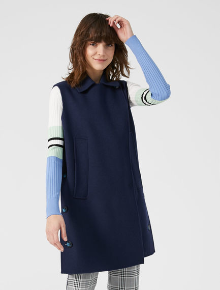 Two-tone Wool Waistcoat Sportmax