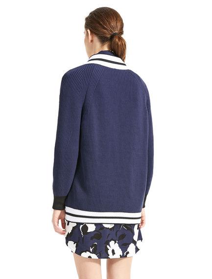 Chunky-Knit Varsity Cardigan