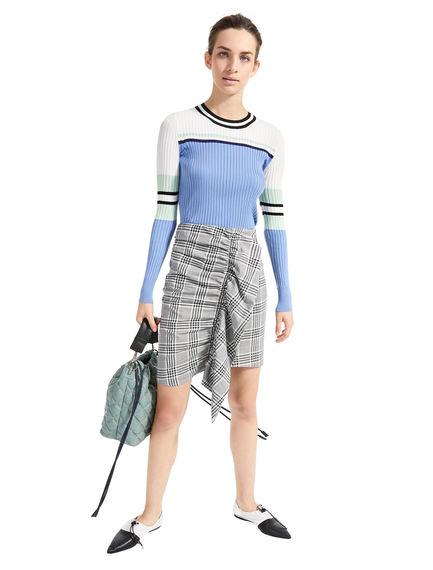 Multi-stripe Flat-rib Sweater