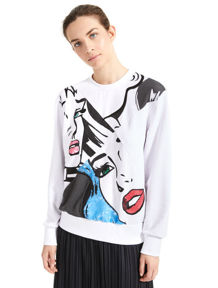 Sequinned Pop Art Sweatshirt Sportmax