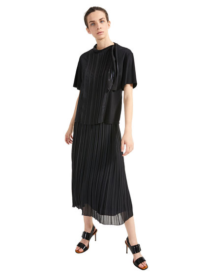 Laminated Pleat T-Shirt Sportmax