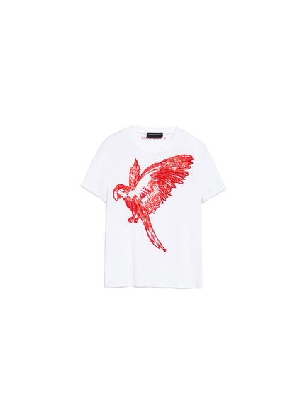 Sequinned Parrot T-Shirt