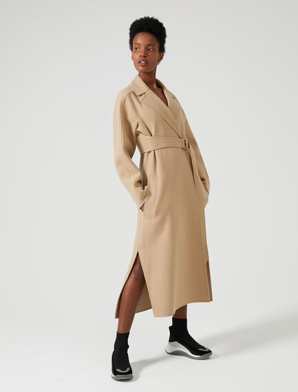 Streamlined Double Cashmere Coat Sportmax