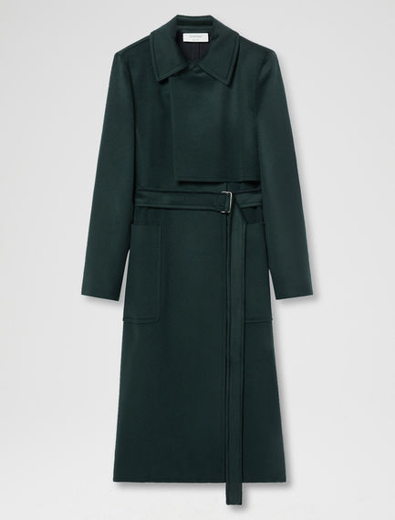 Double Breasted Brushed Wool Coat