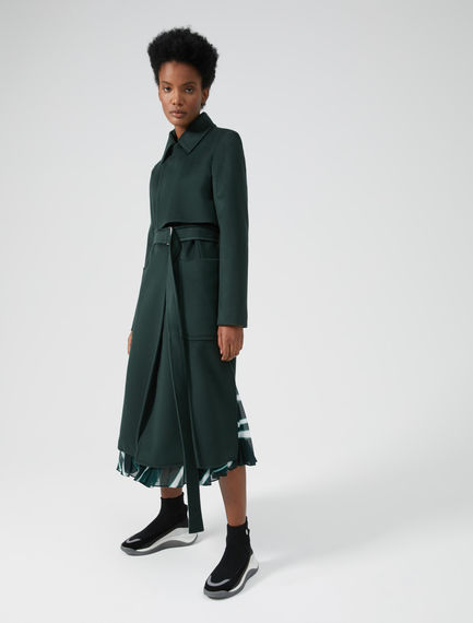 Double Breasted Brushed Wool Coat Sportmax