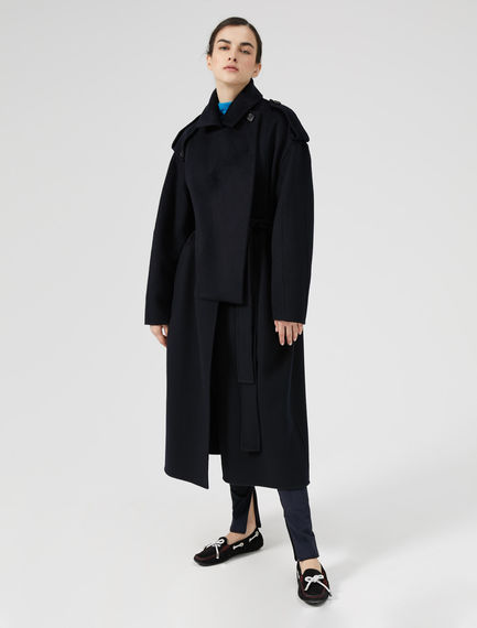 Cappotto-trench in lana e cachemire