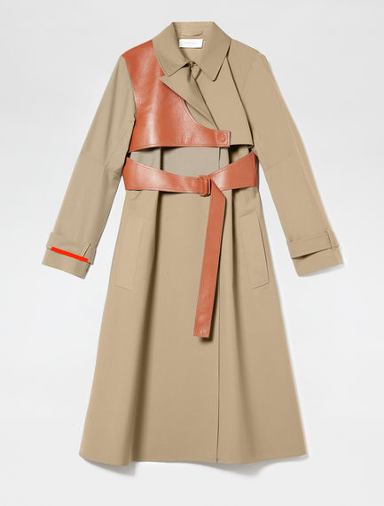 Leather Detail Trench Coat Sportmax