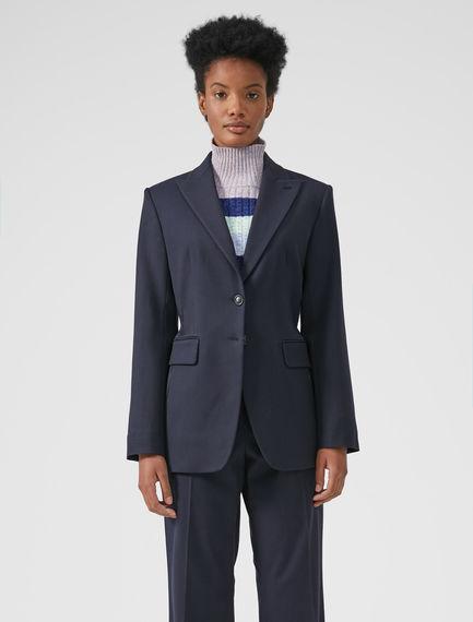 Woollen Pinstripe Fusion Blazer