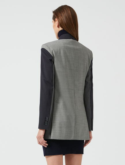 Two-Tone Tailored Blazer