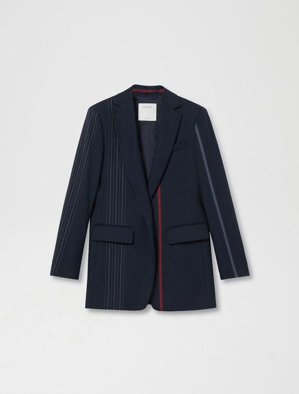 Strobe Stripe Wool Blazer