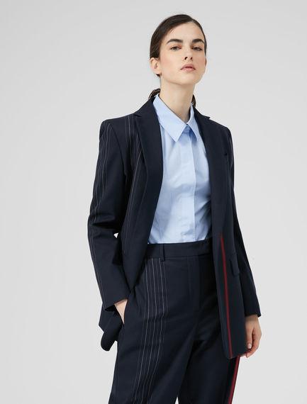 Blazer in lana con righe piazzate Sportmax