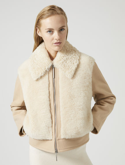 Sheepskin Aviator Jacket Sportmax