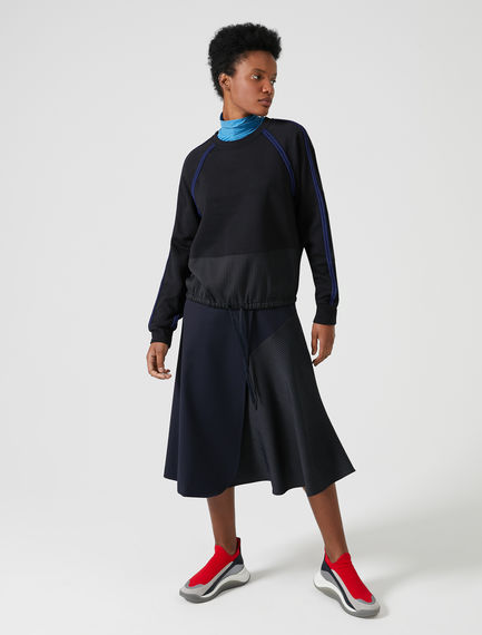 Wraparound Wool Fusion Skirt