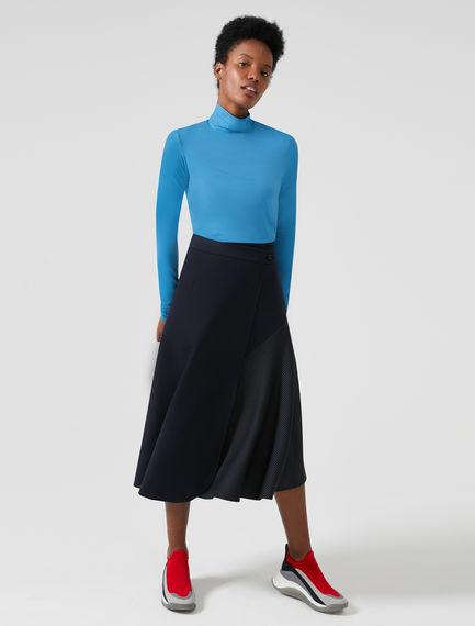Wraparound Wool Fusion Skirt Sportmax