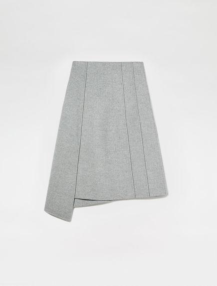 Panelled Cashmere Midi Skirt