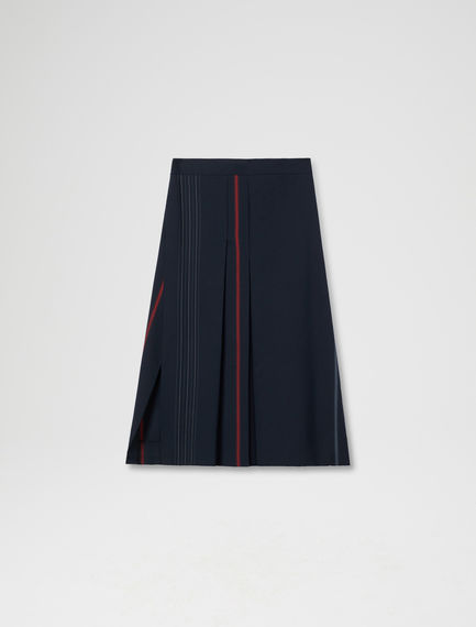 Strobe Stripe Pleated Skirt