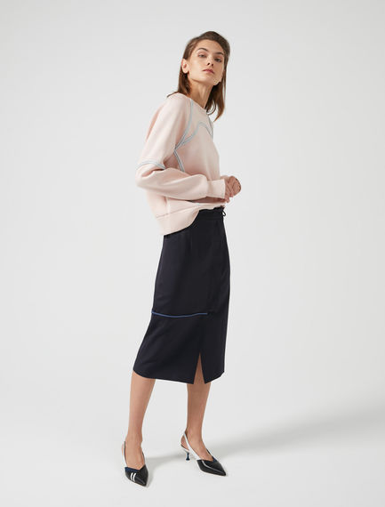 Piped Wraparound Skirt Sportmax