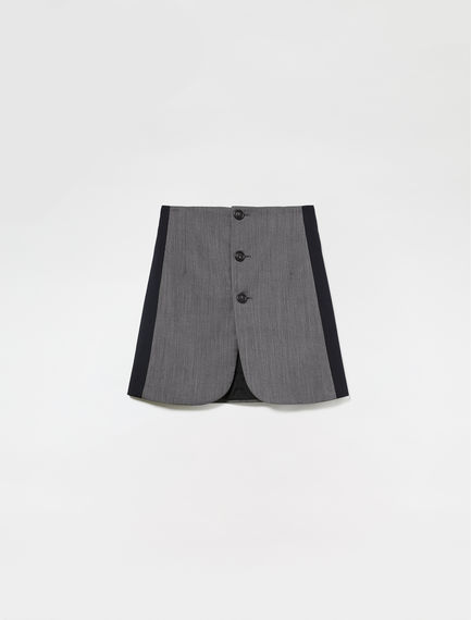Tailored Button Skirt