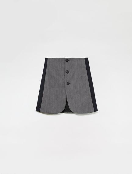 Tailored Button Skirt