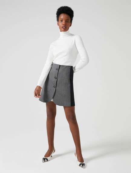 Tailored Button Skirt Sportmax
