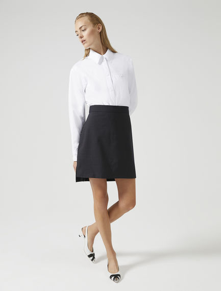 Stepped Hem Wool Skirt Sportmax