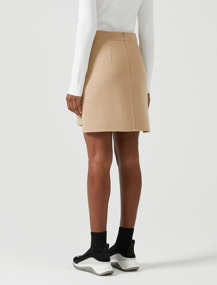 Double-Stitched Wool Skirt Sportmax