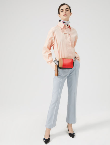 Oversized Cotton Poplin Shirt Sportmax