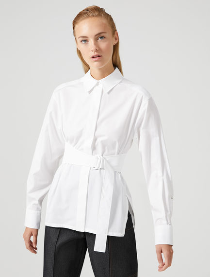 Belted Poplin Shirt Sportmax