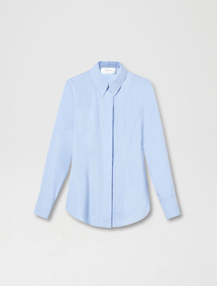 Triple-Stitch Cotton Poplin Shirt
