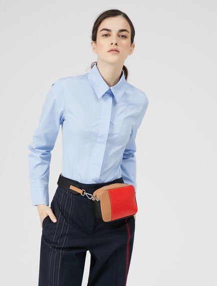 Triple-Stitch Cotton Poplin Shirt Sportmax