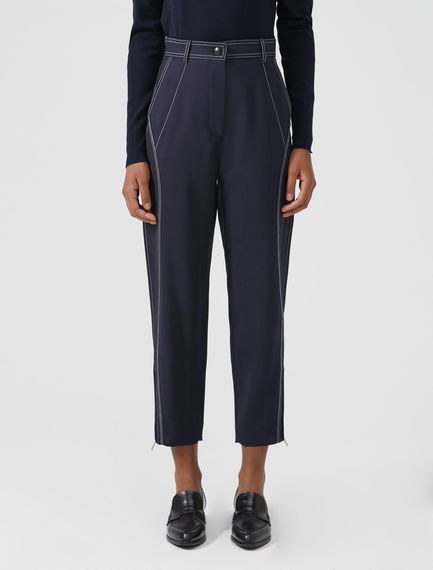 Triple Topstitch Peg Trousers Sportmax