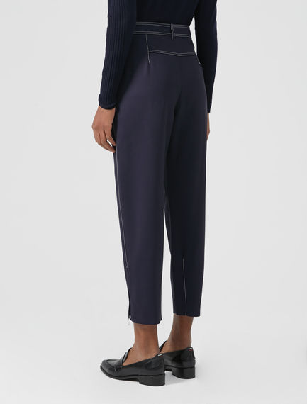 Triple Topstitch Peg Trousers
