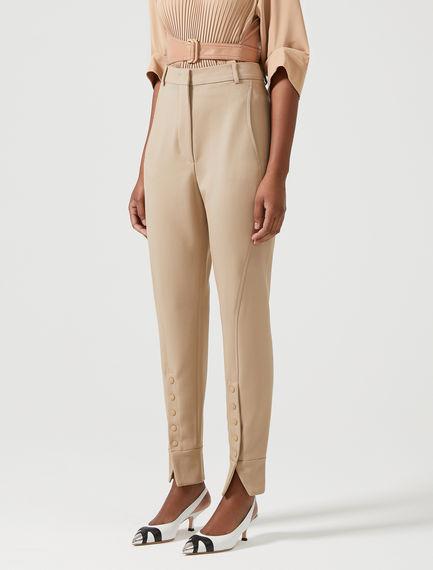 Buttoned-leg Wool Jodhpur Trousers
