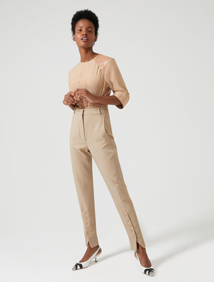Buttoned-leg Wool Jodhpur Trousers Sportmax