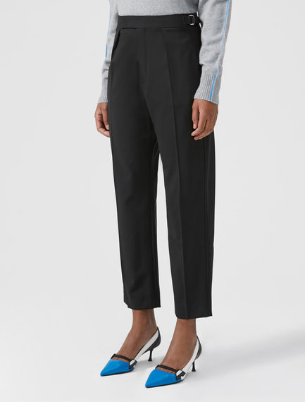 Buckled Wool Trousers