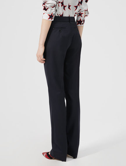 Straight Paper-bag Waist Trousers