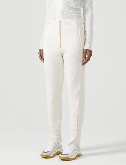 Slit-hem Quilted Trousers Sportmax