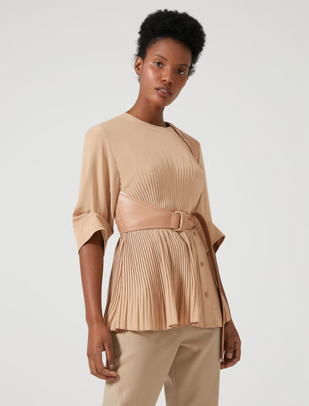 Pleated Shoulder-detail Top Sportmax