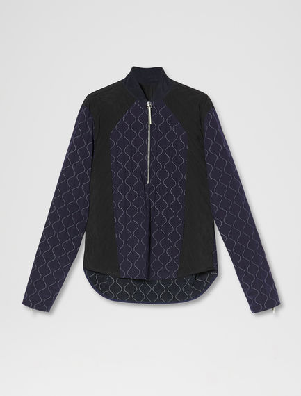 Contrast Quilted Baseball Top